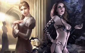 Обои Добро и Зло: Девушки, Добро и Зло, Фэнтези - Девушки