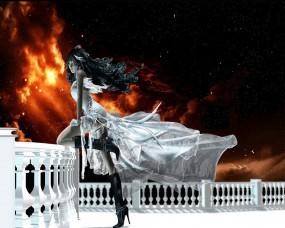 Обои Final Fantasy VIII: Платье, Девушка, Балкон, Фэнтези - Девушки