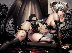 Обои Демоница: Девушка, Фэнтези, Демоница, Фэнтези - Девушки