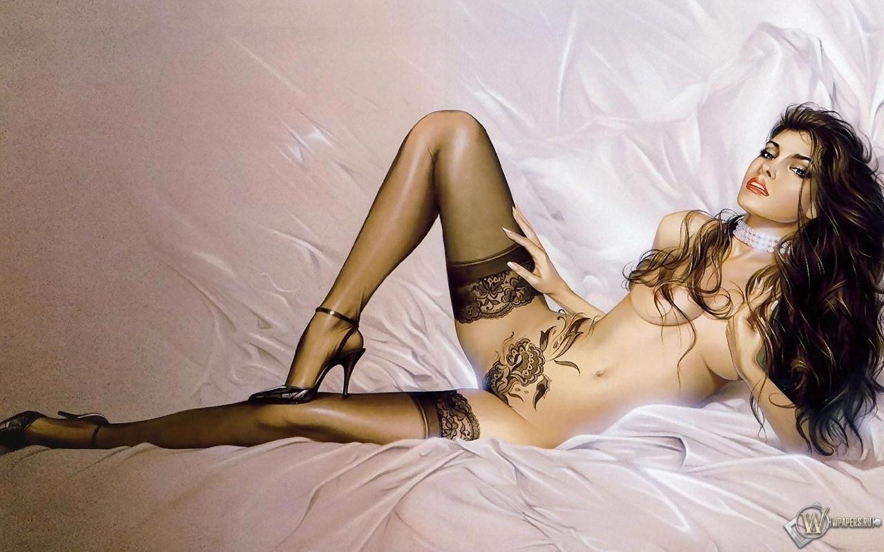 Рисованные эротические девушек 14 фотография