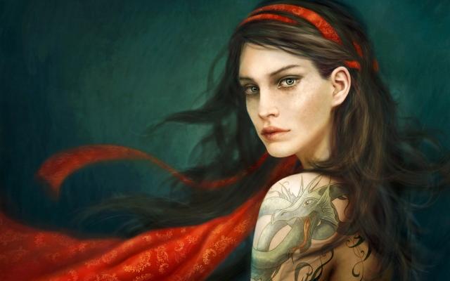 Девушка дракон