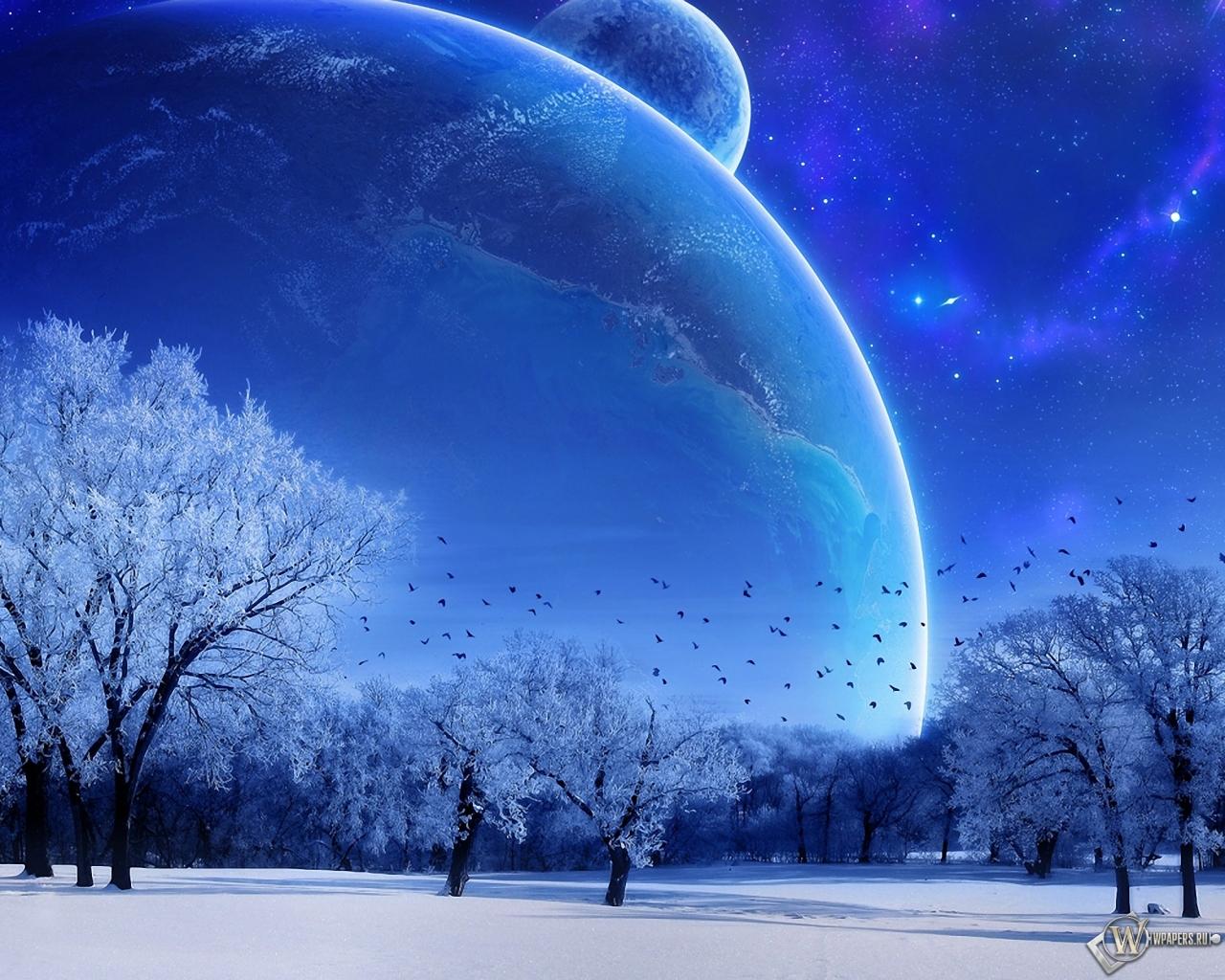 Зимняя фантазия 1280x1024