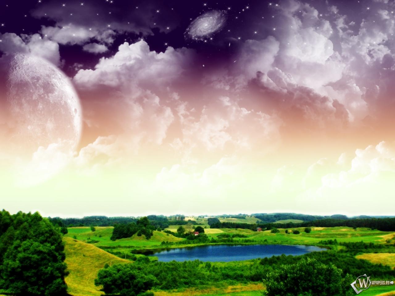 Обои 3d природа природа космос