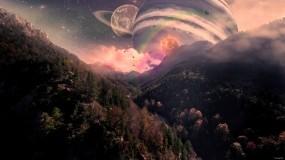 Обои Alicubi alius: Горы, Деревья, Планеты, Фэнтези, Фэнтези - Природа