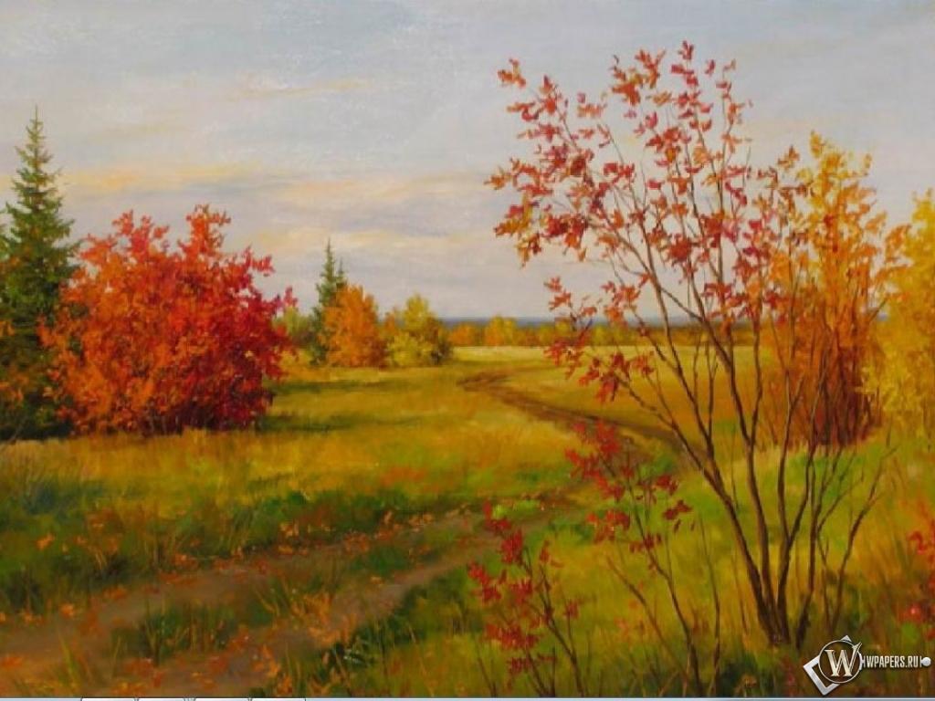 Осенний пейзаж 1024x768