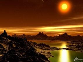 Обои 3D горы: , Фэнтези - Природа