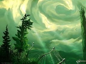 Обои В сказке: Чудо страна, Замок, Ель, Небо, Фэнтези - Природа