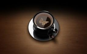 Кофе с бабочкой