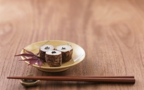 Обои Суши: Еда, Листья, Суши, Еда