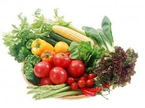 Обои Овощи: Зелень, Овощи, Помидоры, Перцы, Еда