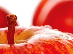 Обои Яблочко: Яблоко, Макро, Красный, Яблоки, Еда