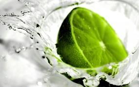 Обои Лайм: Вода, Зелёный, Лайм, Красиво, Еда