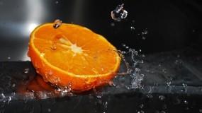 Обои Свежесрезанный апельсин: Вода, Оранжевый, Апельсин, Еда