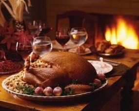 Обои Аппетитная индейка: Праздник, Стол, Курица, Индейка, Еда