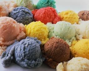 Обои Цветное мороженное: Цвета, Шарики, Мороженое, Еда