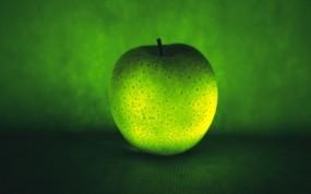 Обои Зеленое яблоко: Яблоко, Зелёный, Еда
