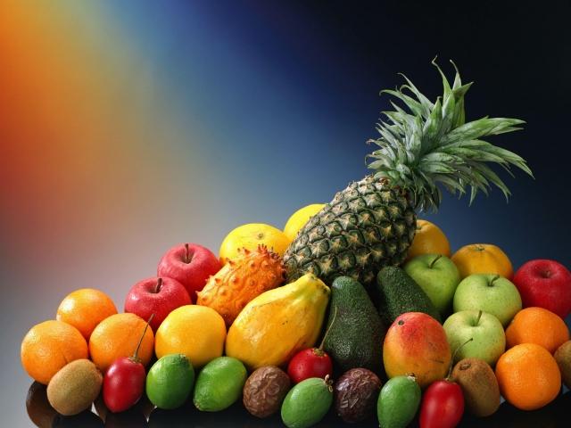 красочный фруктовый микс