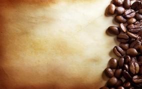 Обои Кофейные зерна: Кофе, Зёрна, Пергамент, Еда