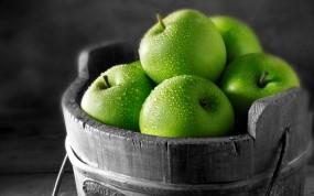 Обои Яблоки: Фрукты, Яблоки, Ведро, Еда