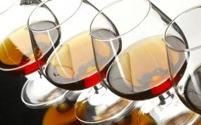 Обои Коньяк в бокалах: Алкоголь, Бокалы, Коньяк, Алкоголь