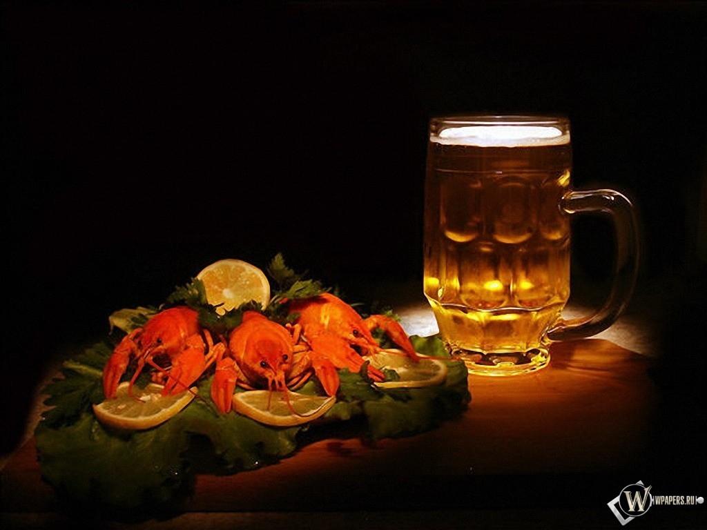 Пиво с раками 1024x768