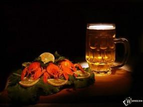 Обои Пиво с раками: , Алкоголь
