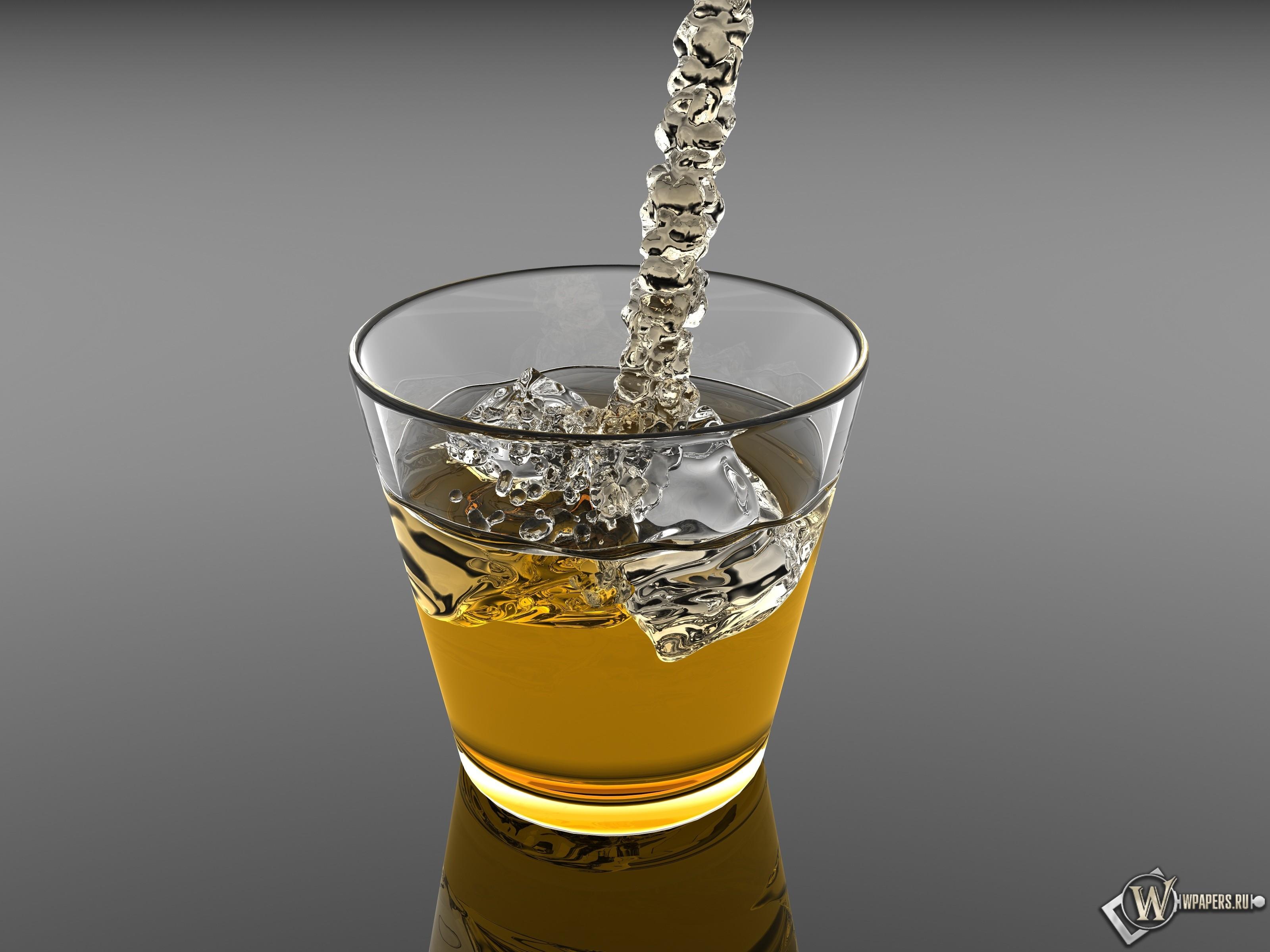 Виски со льдом 3200x2400