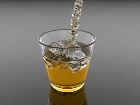 Обои Виски со льдом: Стакан, Лёд, Алкоголь, Виски, Алкоголь