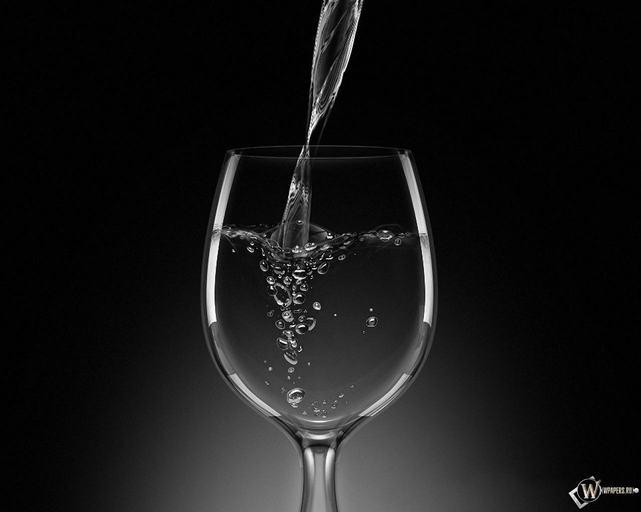 Бокал с шампанским 1280x1024