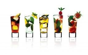 Обои Коктейли: Лёд, Коктейли, Напитки, Стаканы, Алкоголь
