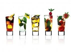 Обои Экзотические коктейли: Фрукты, Коктейли, Напитки, Красиво, Алкоголь