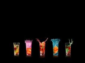 Обои Разноцветные коктейли: Коктейли, Напитки, Алкоголь
