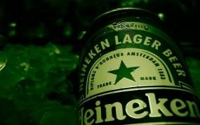 Обои Heineken: Зелёный, Пиво, Heineken, Бутылка, Алкоголь