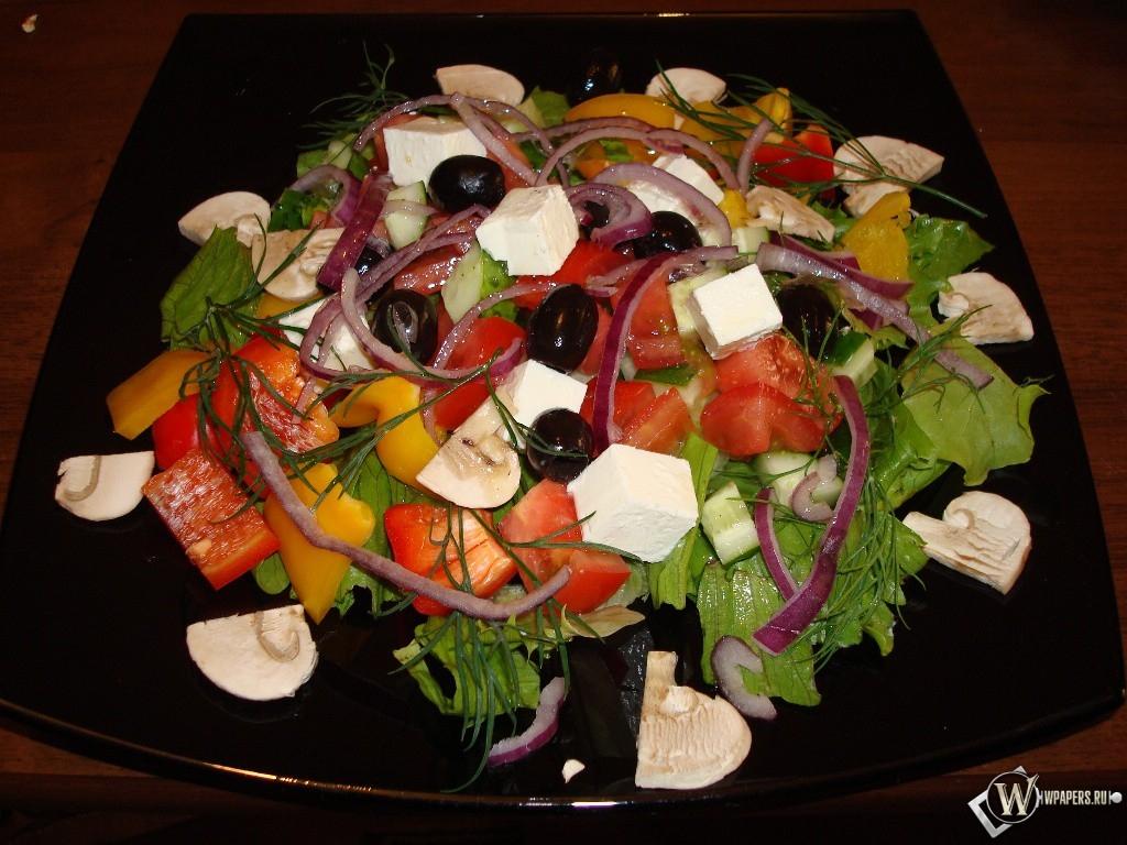 Греческий салат 1024x768