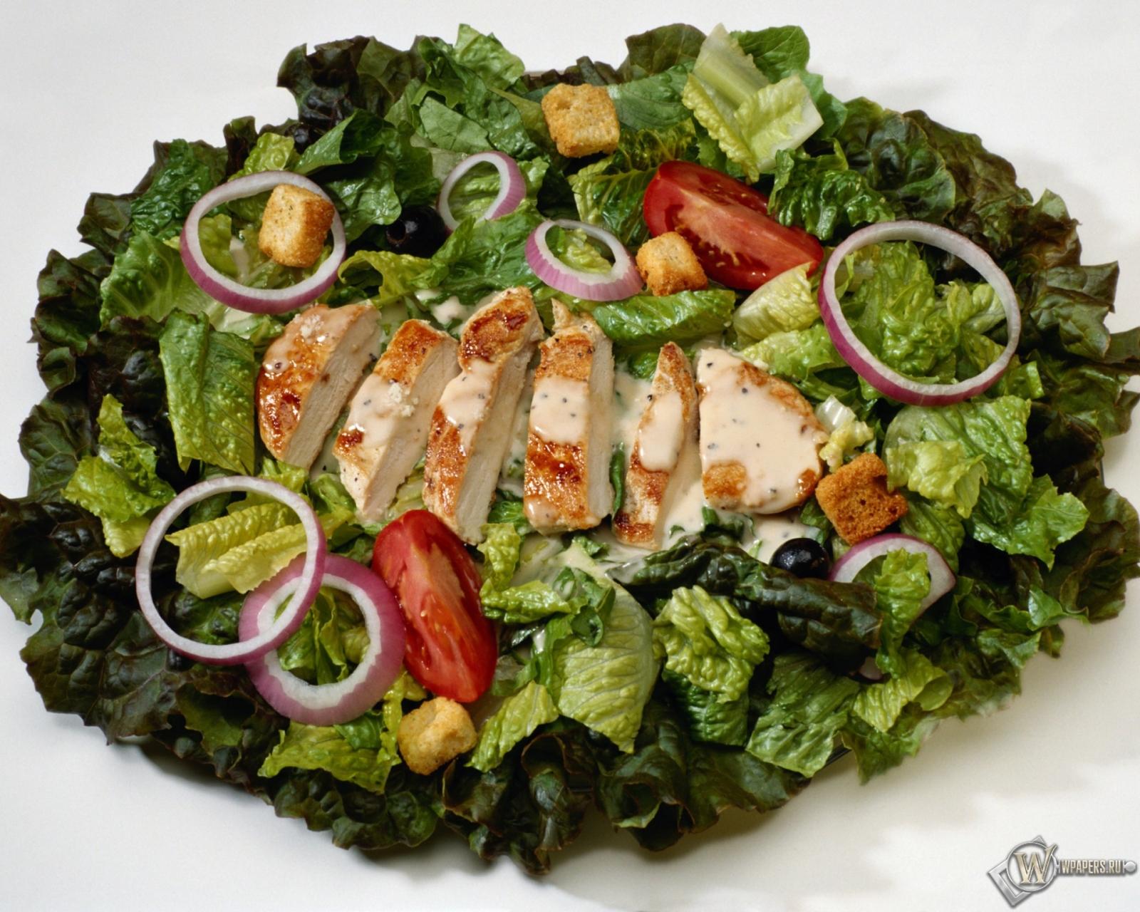 Салат цезарь с курицей салат цезарь