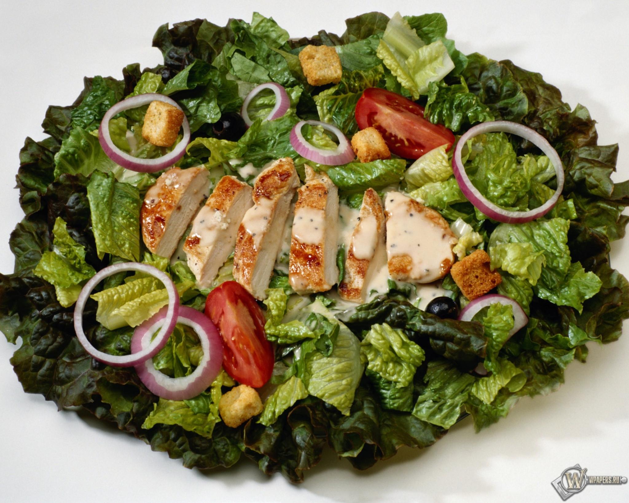 Цезарь с курицей салат обоев 22 цезарь
