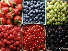 Обои Лесные ягоды: Малина, Ягоды, Клубника, Черника, Смородина, Ягоды