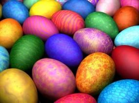 Обои Пасхальные яйца: Узоры, Пасха, Яйца, Цвет, Праздники
