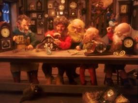 Обои Гномы: Рождество, Часы, Гномы, Праздники
