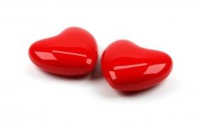Обои Сердца на белом фоне: Любовь, Сердце, Пара, День святого Валентина, Праздники