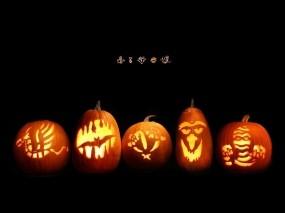 Обои Хэллоуин: Улыбка, Тыква, Хэллоуин, Праздники