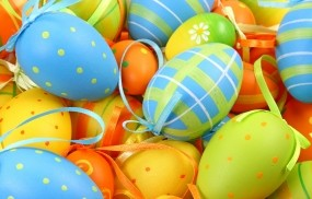 Обои Яйца на Пасху: Пасха, Яйца, Узор, Бантик, Праздники