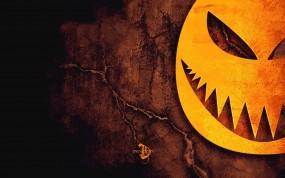 Обои Halloween: Тыква, Halloween, Трещины, Ужастик, Праздники
