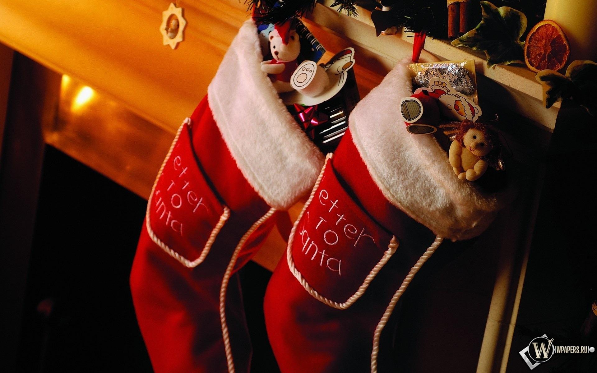 Носки с подарками 1920x1200