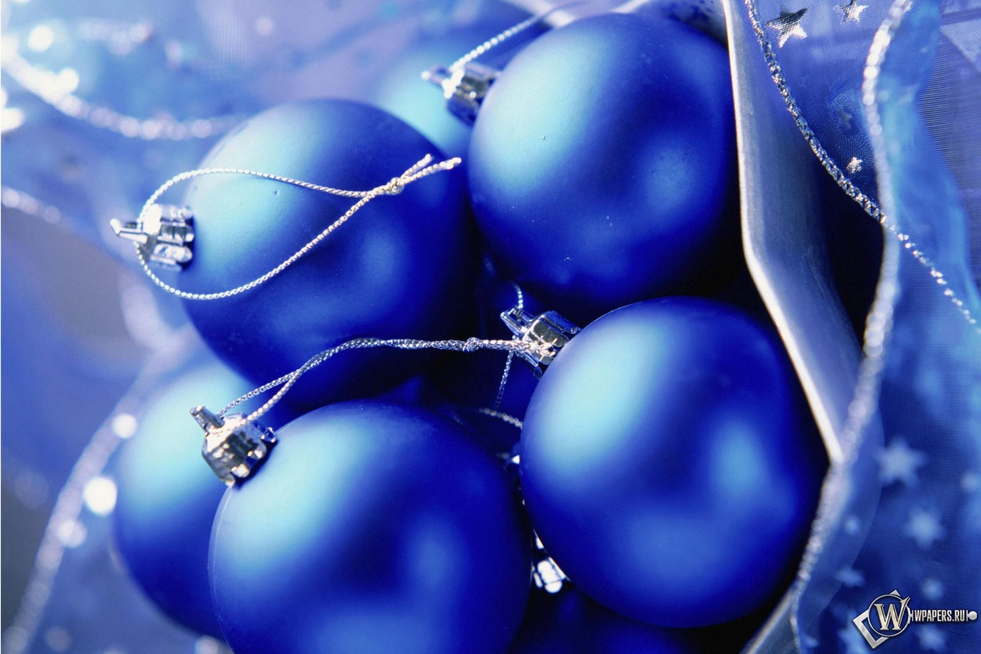 Синие шары 1920x1280