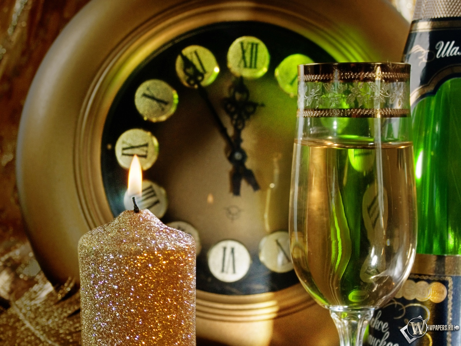 Новогодние часы 1600x1200