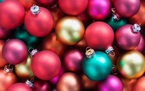Обои Ёлочные шары: Новый год, Шары, Украшения, елочные игрушки, Новый год