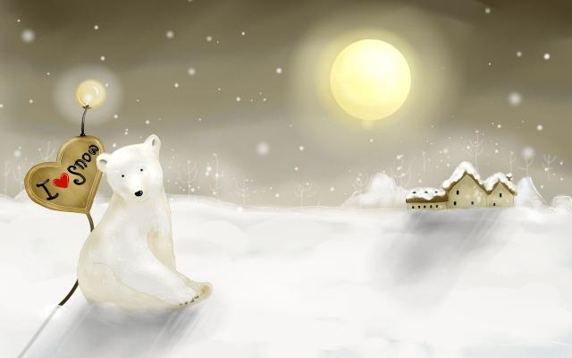 Белый медведь с сердцем