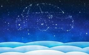 Обои Созвездие машины: Машина, Звёзды, Новый год, Новый год