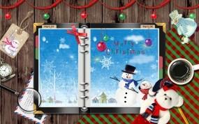 Обои Новый год на столе: Новый год, Снеговик, Вещи, Новый год
